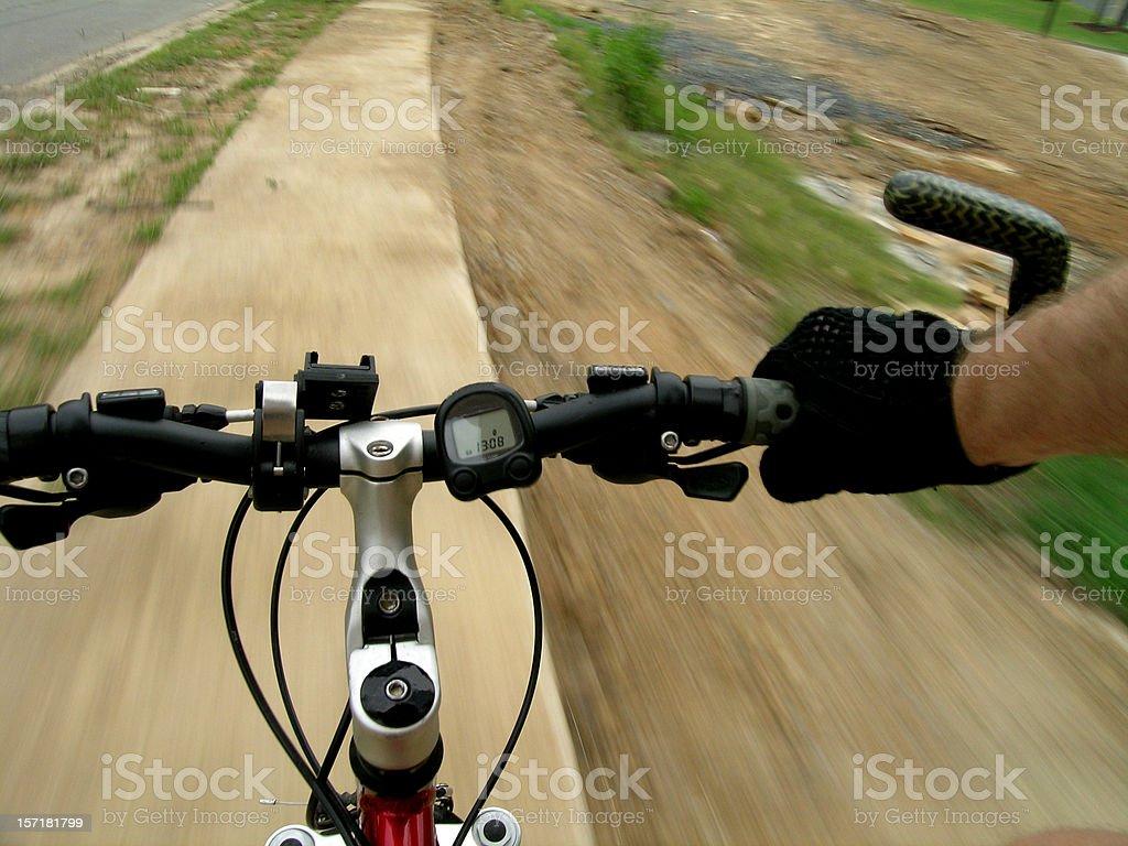 Mountain Bike on the Move royalty-free stock photo