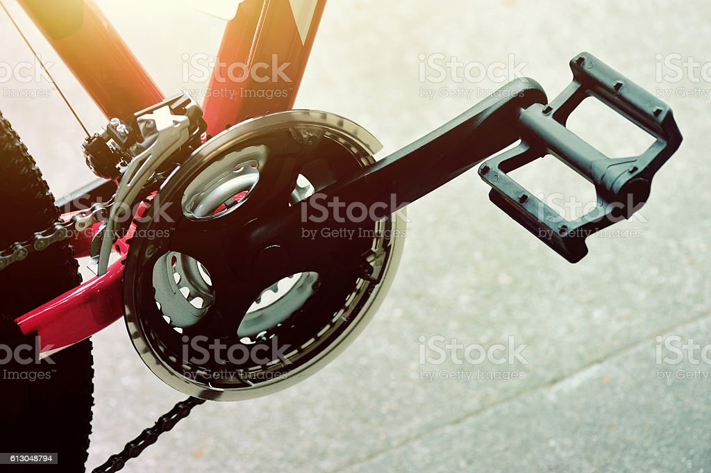 mountain bike part stock photo
