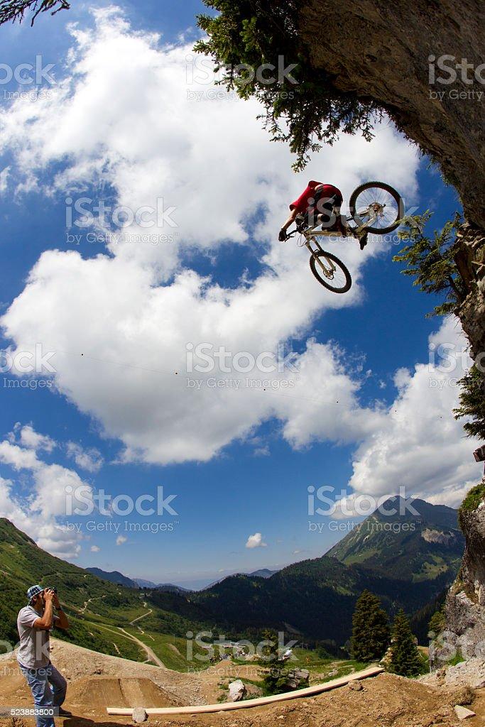 Mountain Bike Photographer stock photo
