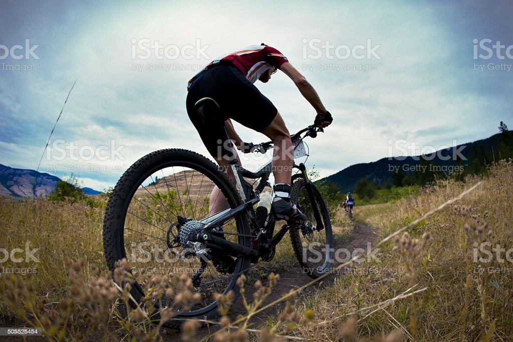 Mountain Bike Race stock photo