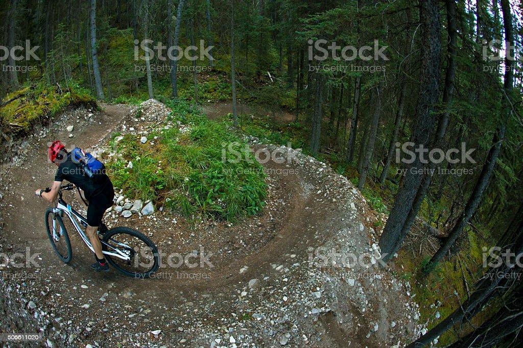 Mountain Bike Racer stock photo