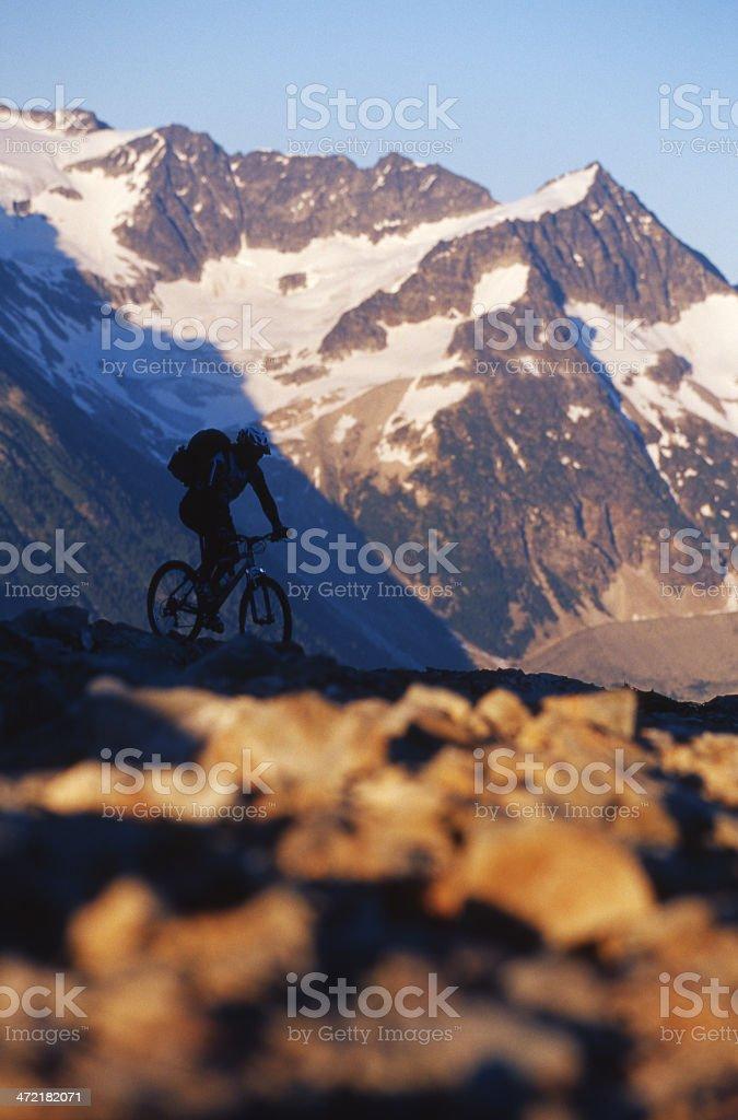 Mountain Bike Rider royalty-free stock photo
