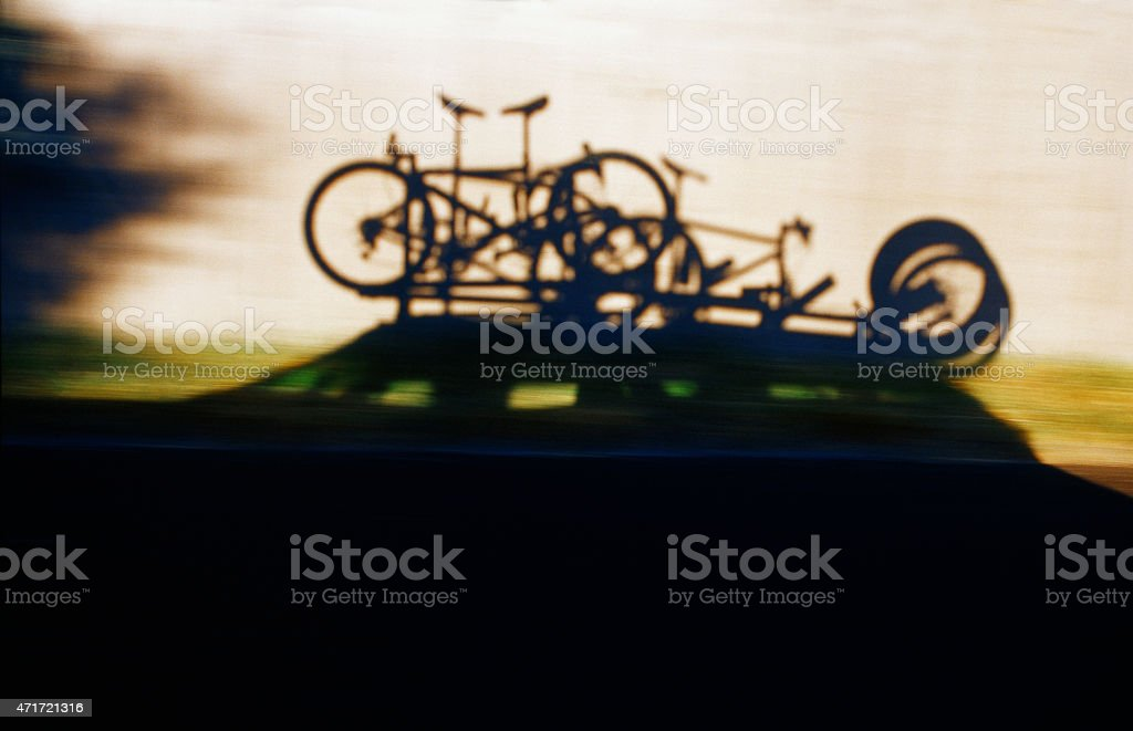 Mountain Bike Road Trip stock photo