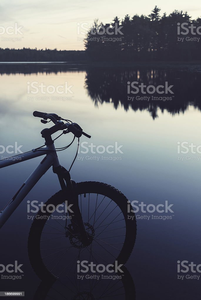 Mountain Bike Silhouette stock photo