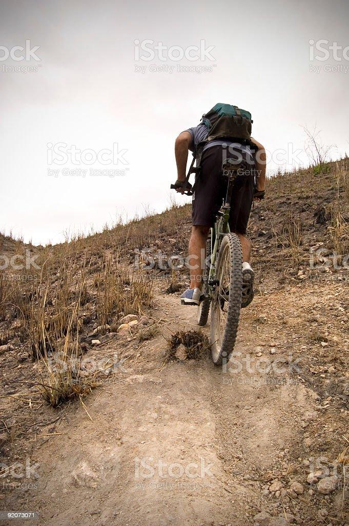 Mountain Bike Steep Hill stock photo