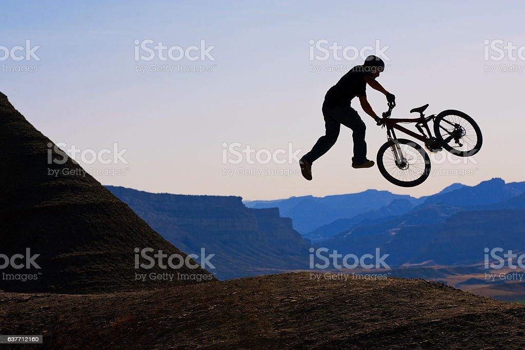 Mountain Bike Tailwhip stock photo