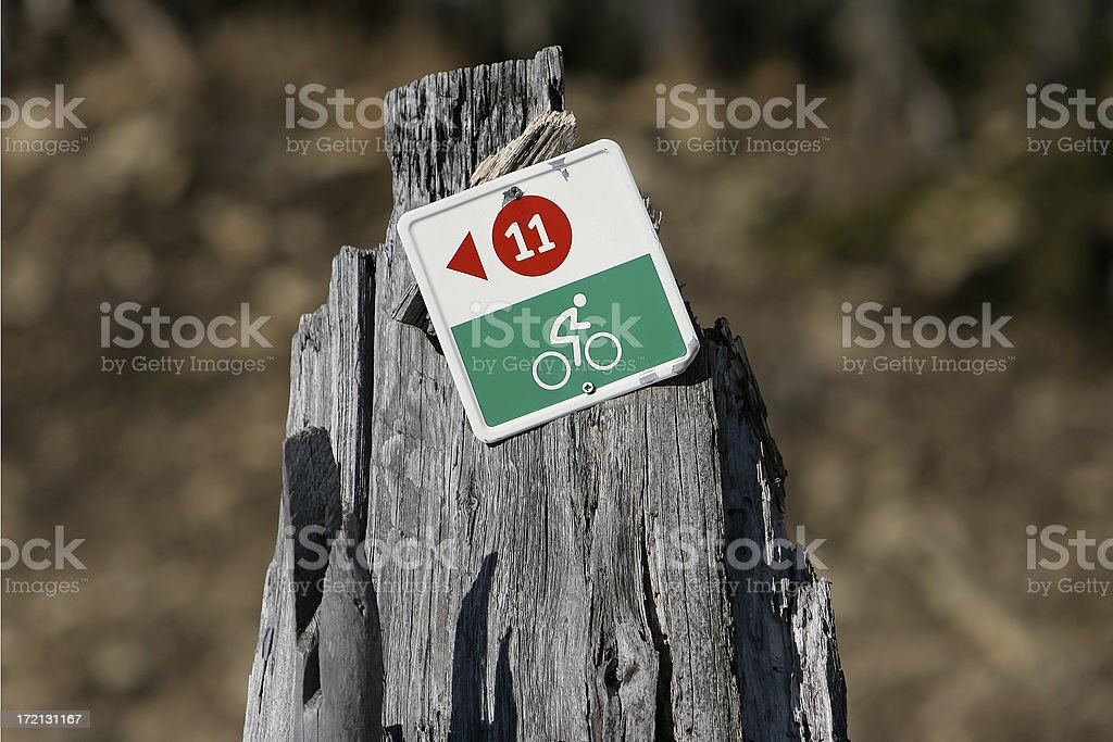 Mountain bike track stock photo