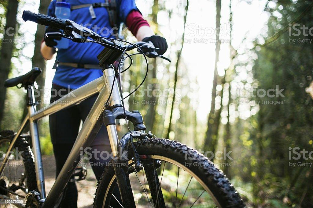 Mountain Bike Water Break stock photo