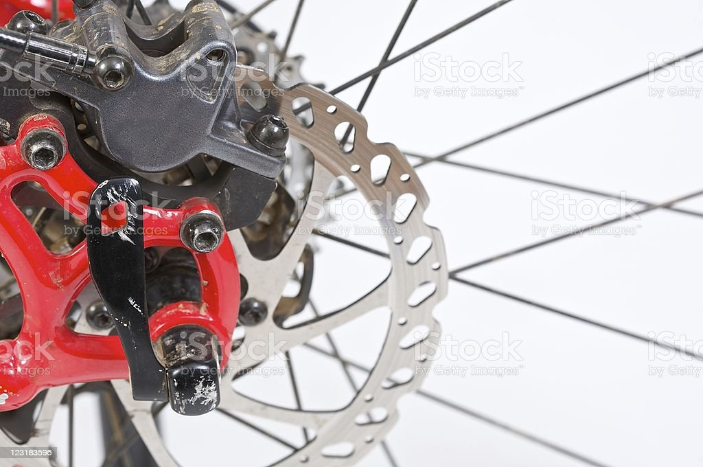 Mountain bike wheel royalty-free stock photo