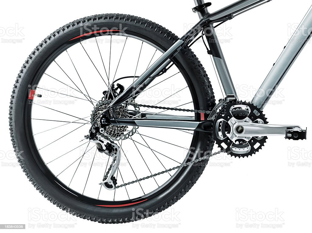 Mountain bike wheel stock photo