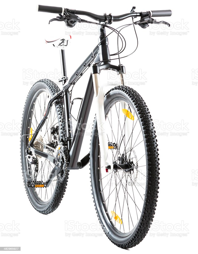 mountain bike with 29 inch wheels on white royalty-free stock photo