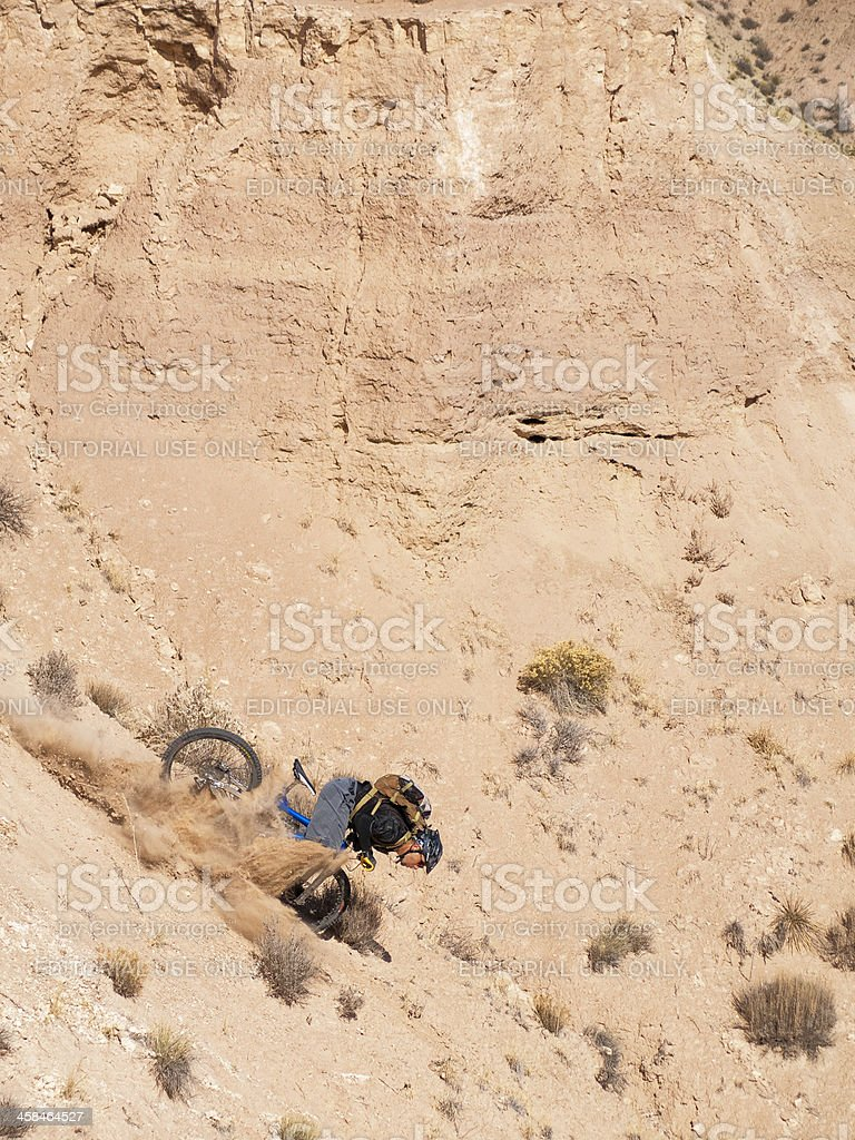 mountain biker crash royalty-free stock photo