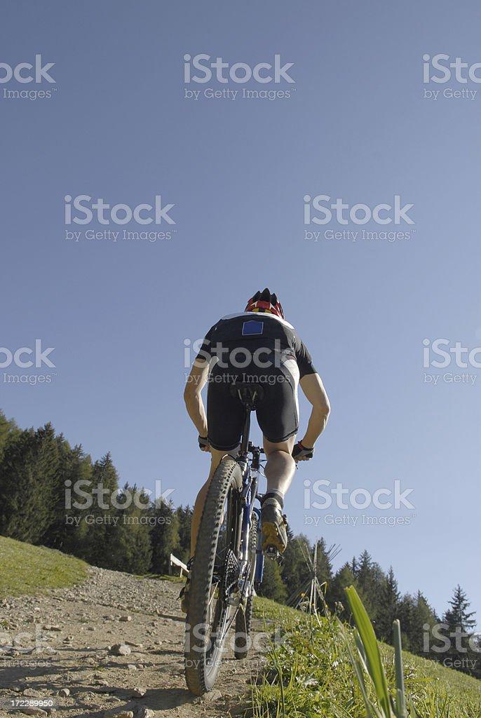 mountain biker man royalty-free stock photo