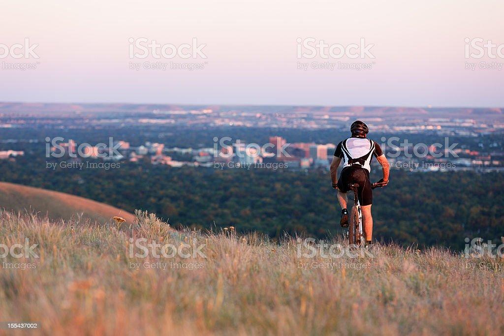 Mountain biker stock photo