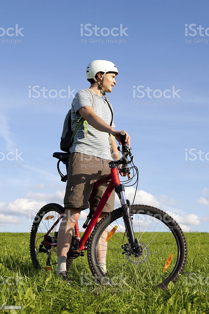 Mountain biker. royalty-free stock photo