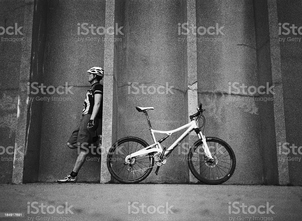 Mountain biker XXXL royalty-free stock photo