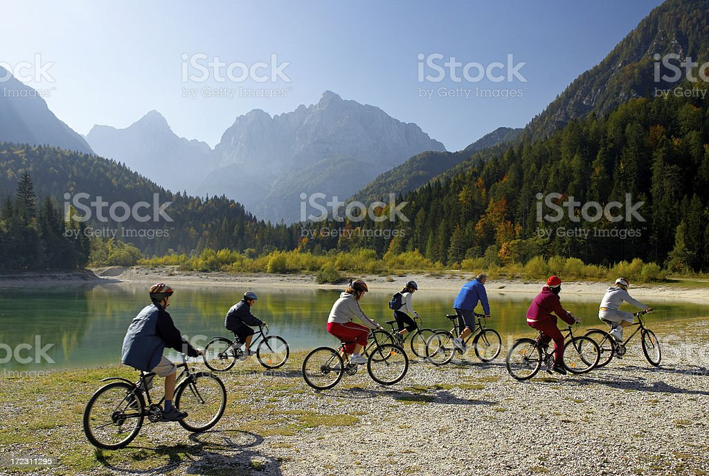 Mountain Bikers royalty-free stock photo