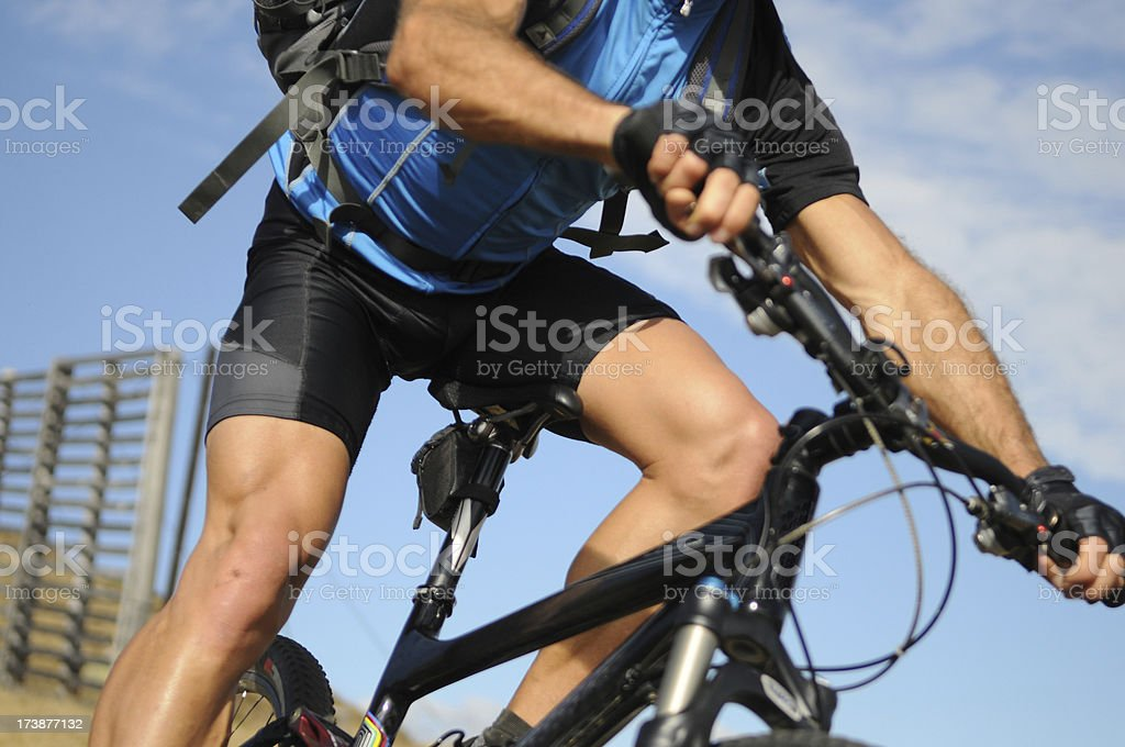 Mountainbiker stock photo