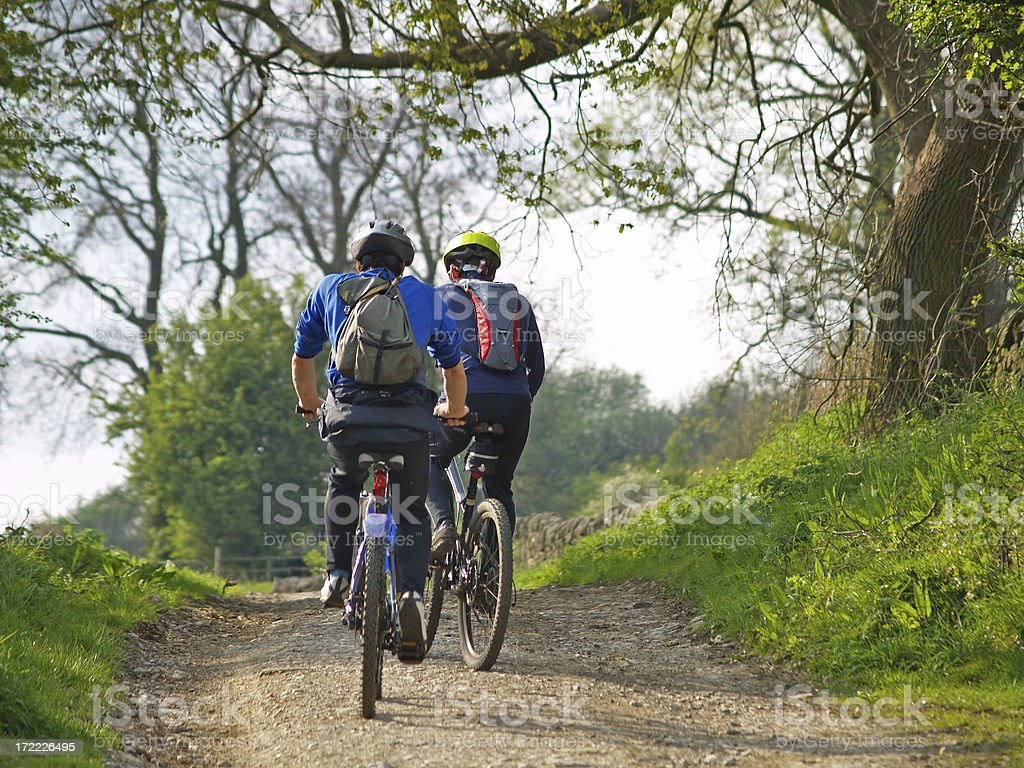 Mountain Biking 3 royalty-free stock photo