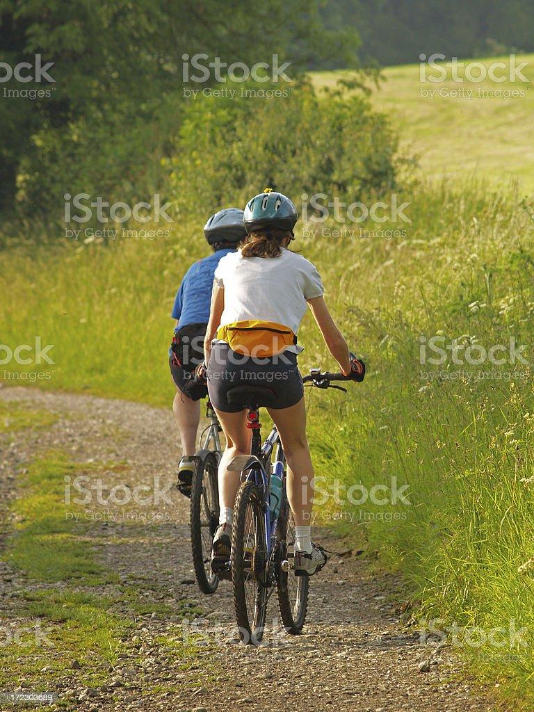 Mountain Biking 7 royalty-free stock photo