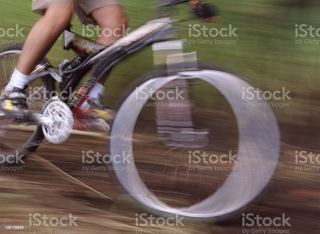 Mountain Biking at Incredible Speeds royalty-free stock photo