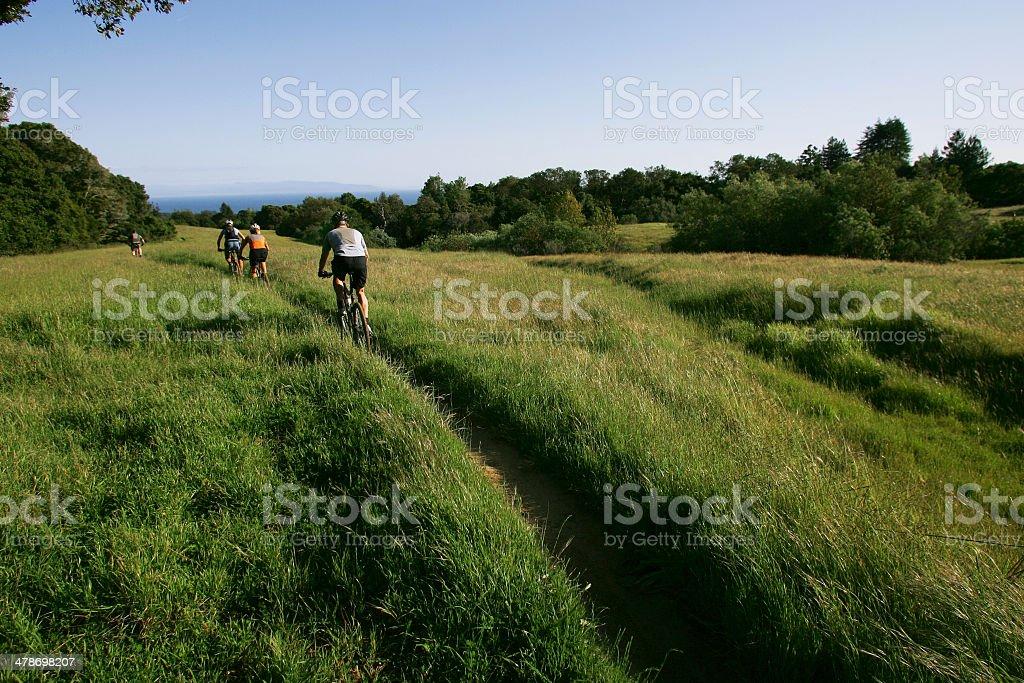 Mountain Biking California stock photo