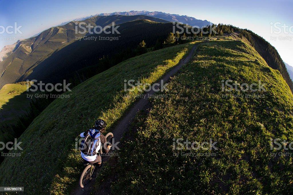 Mountain Biking Canada stock photo