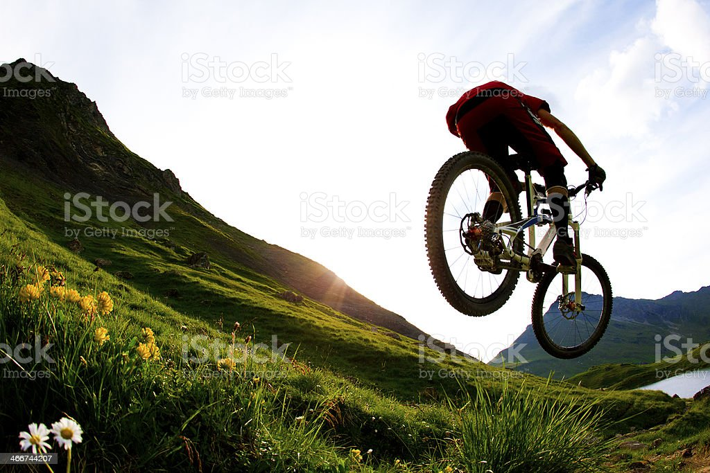 Mountain Biking France stock photo