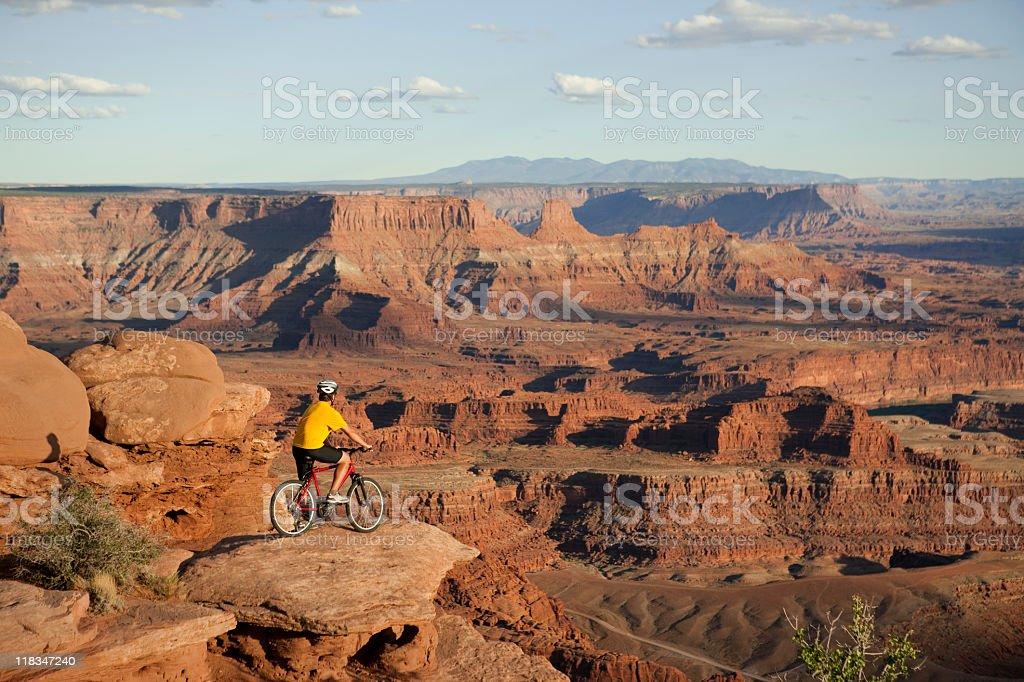 Mountain Biking In Canyonlands National Park, Moab, Utah stock photo