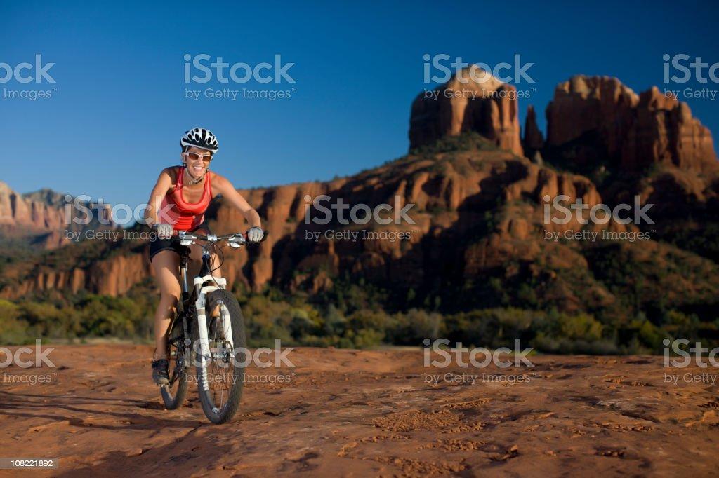 Mountain biking in Sedona Arizona royalty-free stock photo