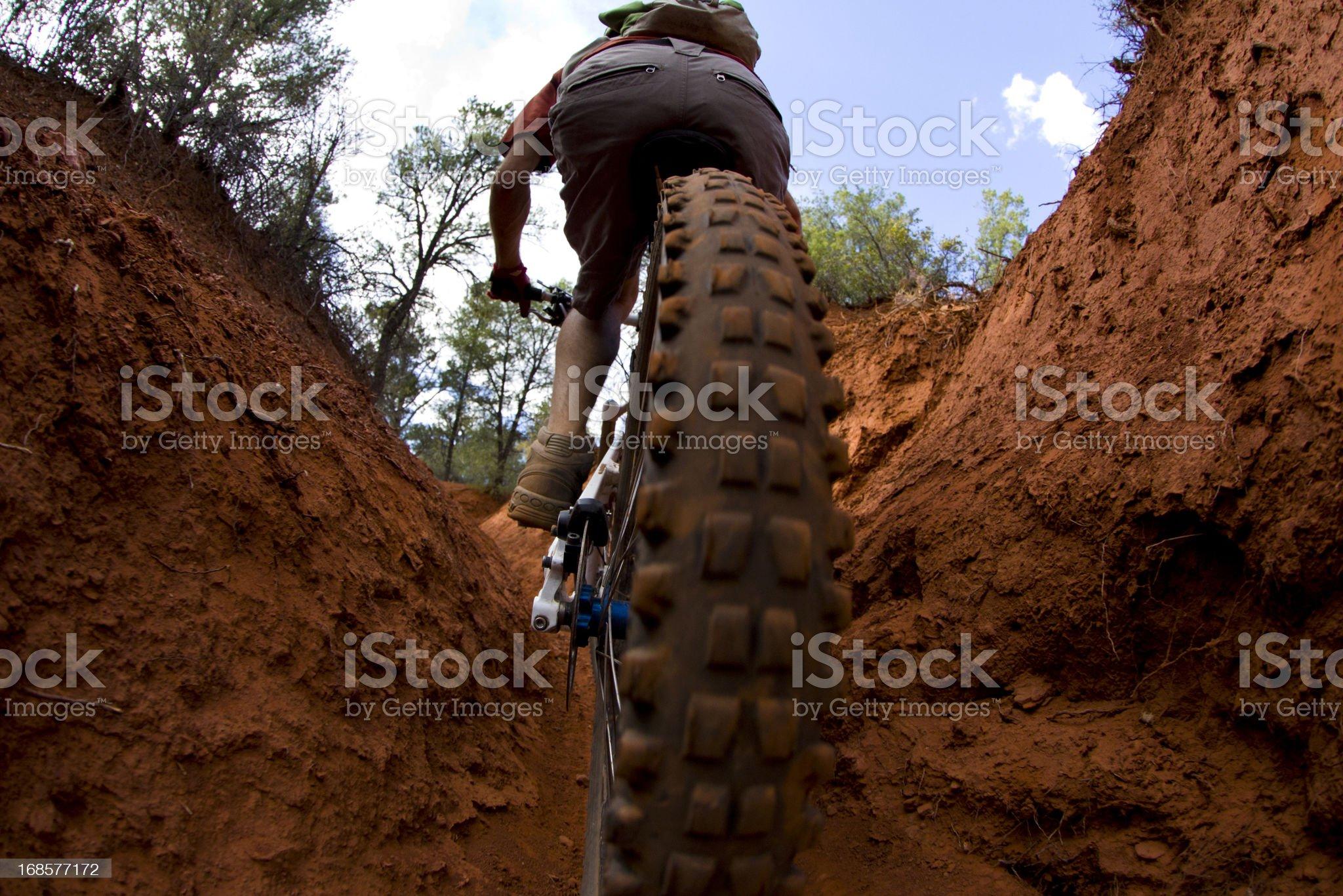 Mountain Biking in Sedona royalty-free stock photo