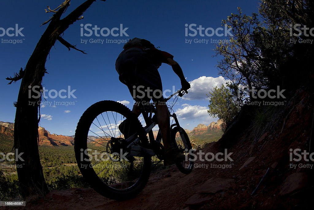 Mountain Biking in Sedona royalty-free stock photo