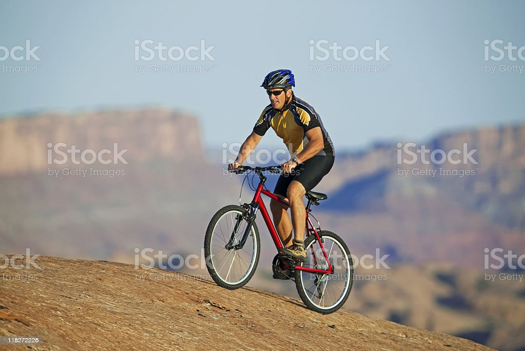 Mountain Biking In Utah On Slick Rock Trail royalty-free stock photo