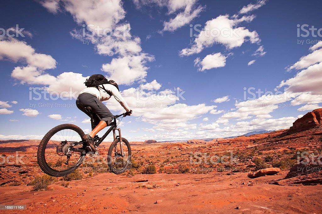 mountain biking in Utah stock photo