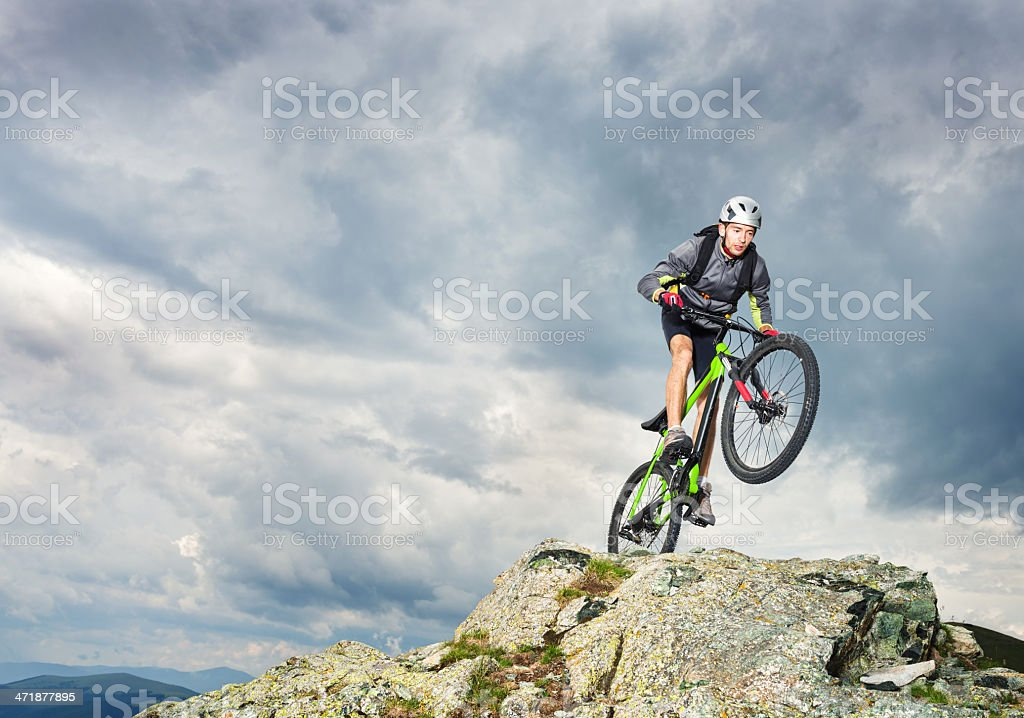 Mountain Biking is Exciting stock photo