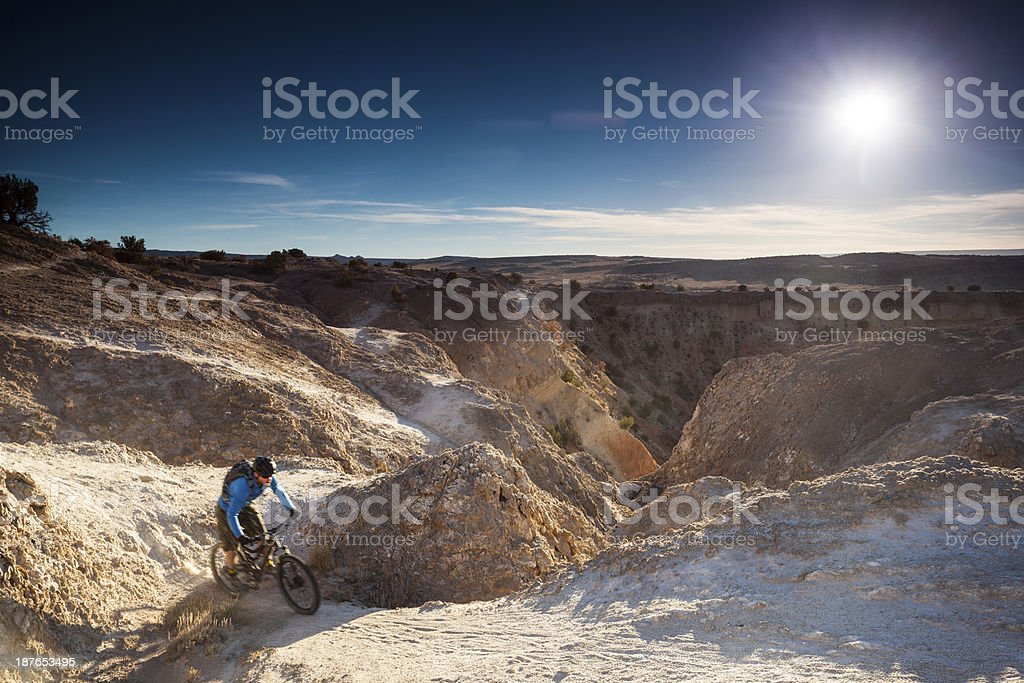 mountain biking motion landscape royalty-free stock photo