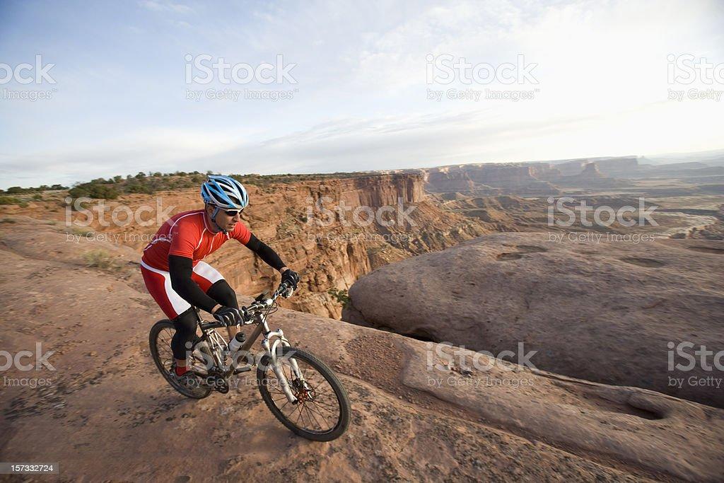 Mountain Biking on Canyon Rim stock photo