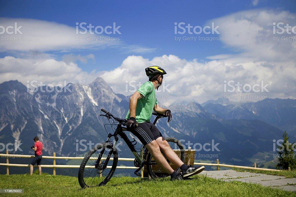 Mountain Biking Panorama royalty-free stock photo
