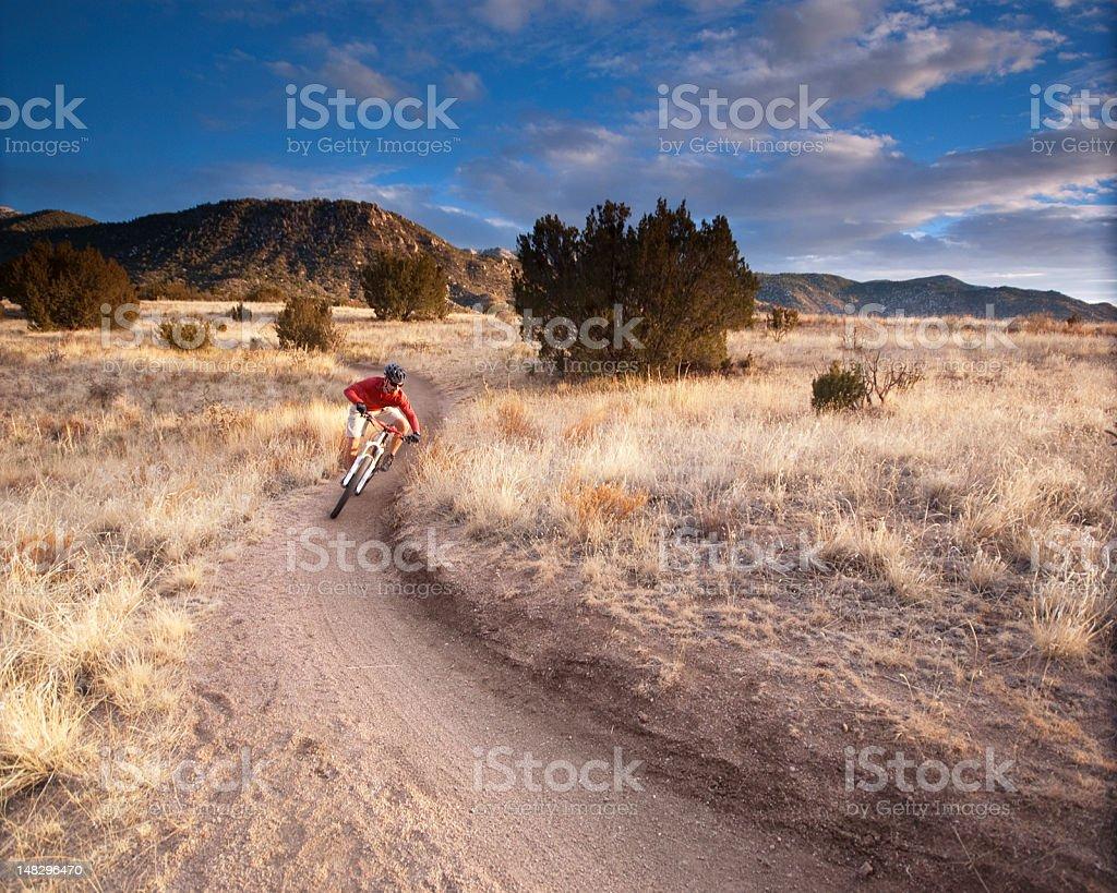 mountain biking! royalty-free stock photo