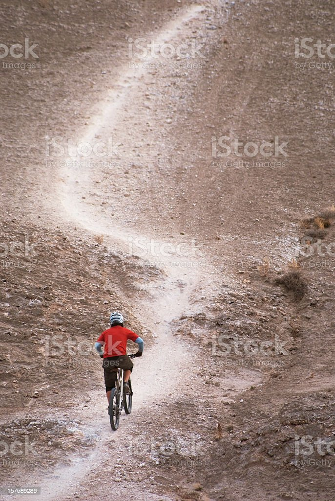 mountain biking! royalty-free stock photo