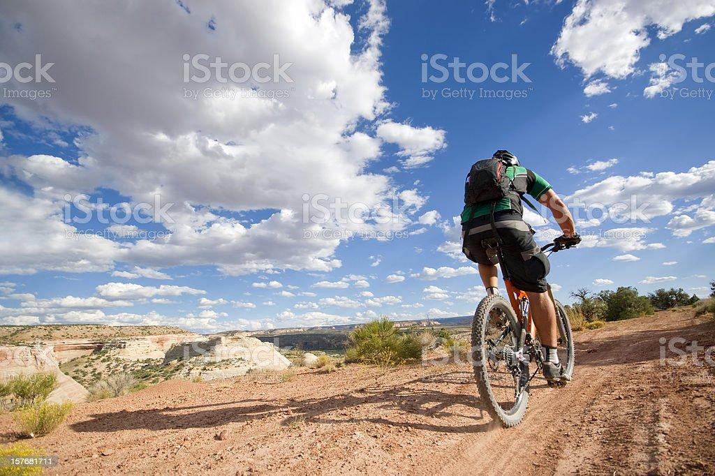 mountain biking! stock photo