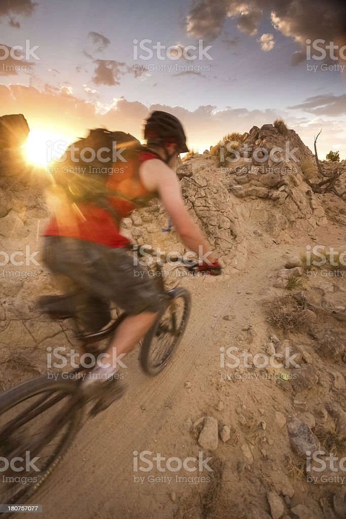 mountain biking royalty-free stock photo