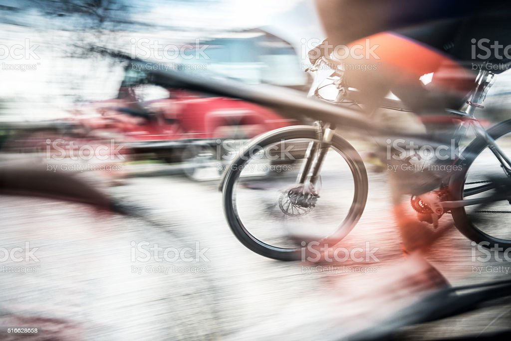 Mountain Biking stock photo
