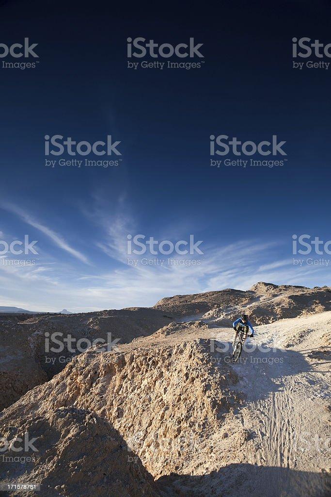 mountain biking sunset landscape sky royalty-free stock photo