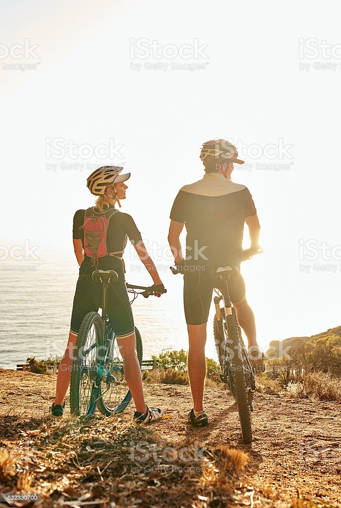Mountain biking: the under-rated and drug-free antidepressant stock photo