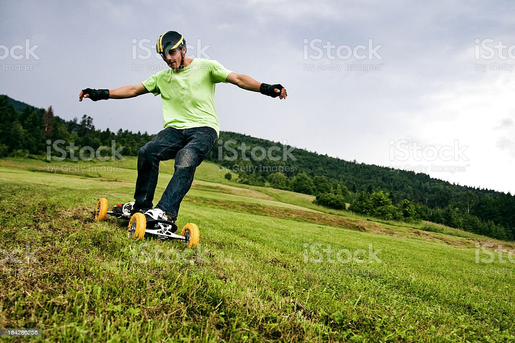 Mountain boarder in action royalty-free stock photo