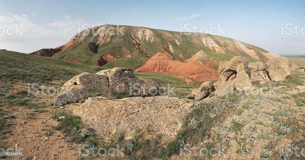 Mountain 'Bolshoe Bogdo.' royalty-free stock photo