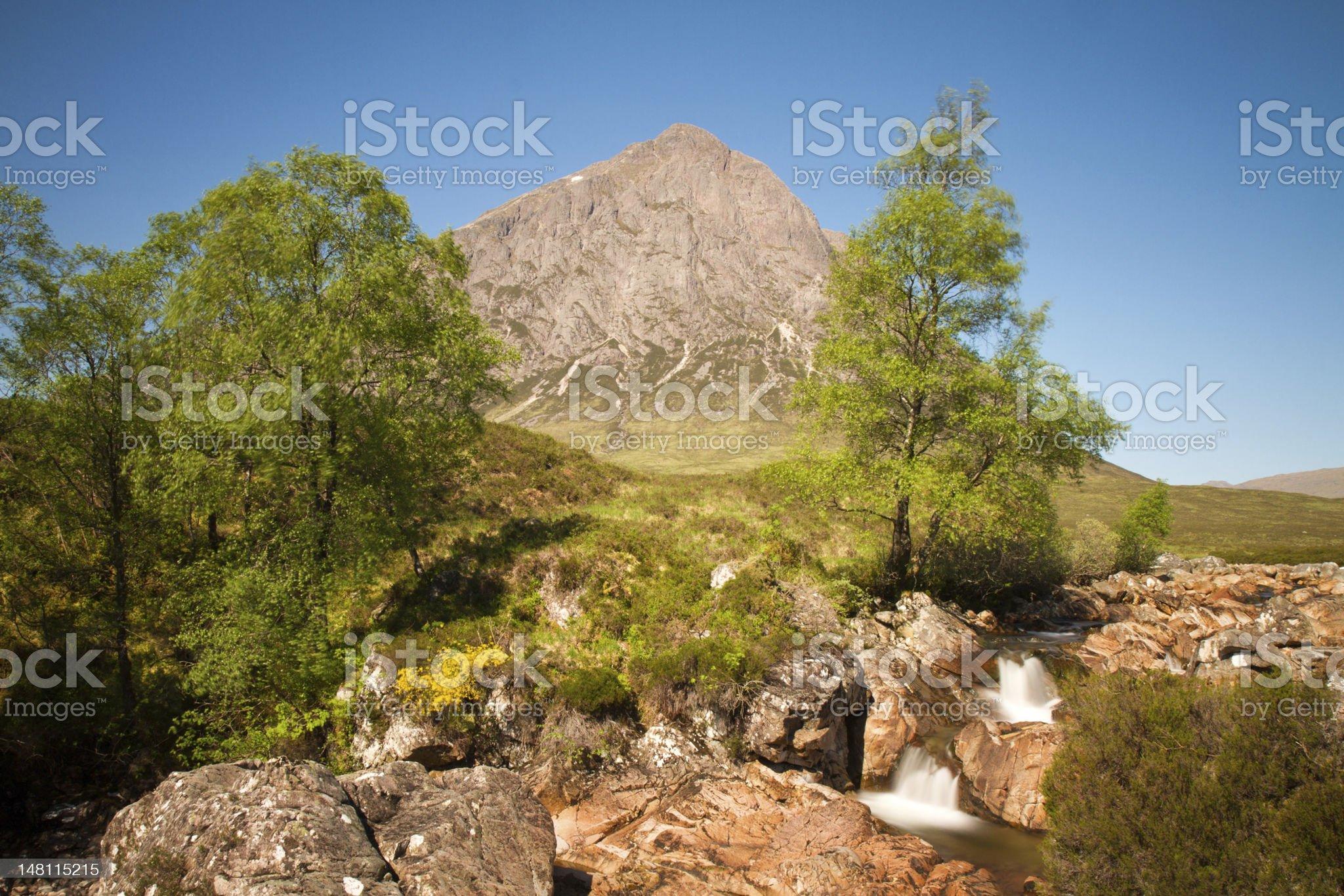 Mountain Buachaille Etive Mor royalty-free stock photo