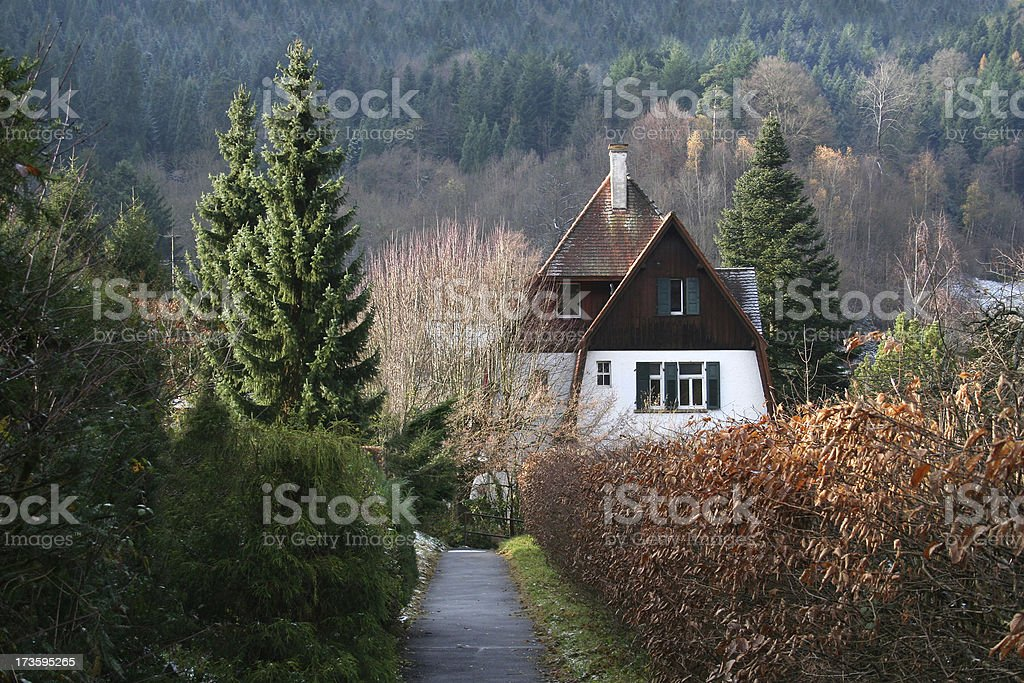 mountain cabin in south germany royalty-free stock photo