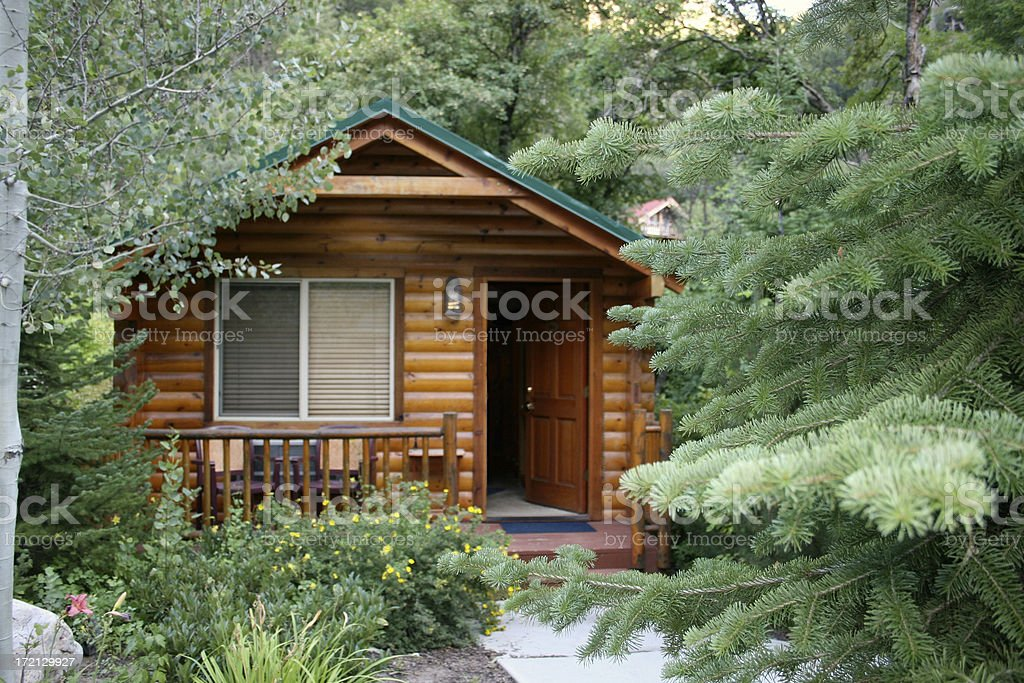 Mountain Cabin royalty-free stock photo
